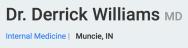 Dr. Derrick Williams - (765) 289-1011